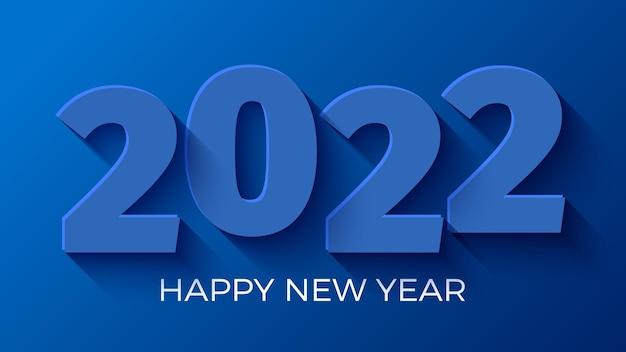 Bonne année bleu. conception de cartes de voeux.