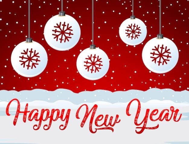 Bonne année carte rouge