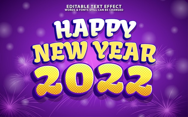 Bonne année effet texf modifiable