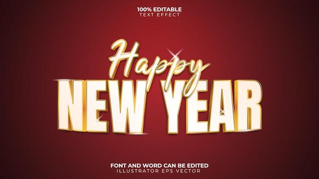 Bonne année effet texte or blanc brillant gras écriture manuscrite
