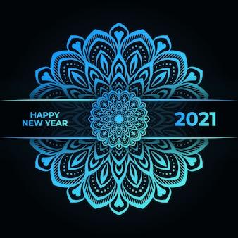 Bonne année et fond de mandala de luxe