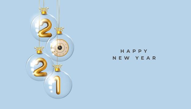 Bonne année fond de nombre réaliste doré