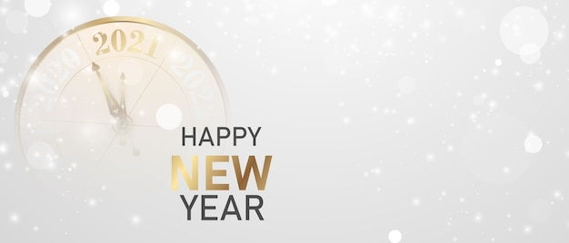 Bonne année fond d'or et bannière et cartes de fête de célébration sur le thème de noël.