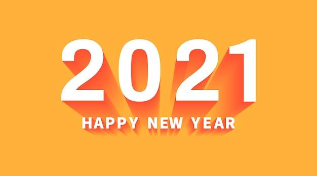 Bonne année sur fond orange.