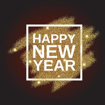 Bonne année sur fond de paillettes d'or