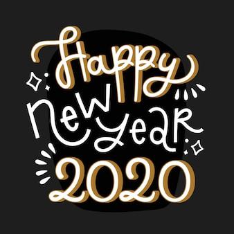 Bonne année lettrage