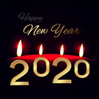 Bonne année avec des lumières