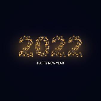 Bonne année numéro 2022 polygonale sur le fond