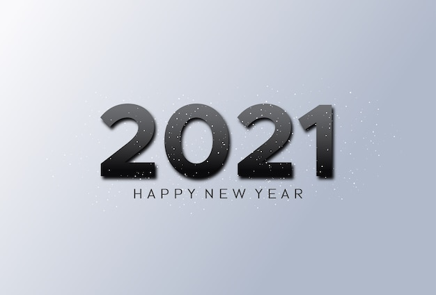 Bonne année avec un numéro noir sur fond argenté