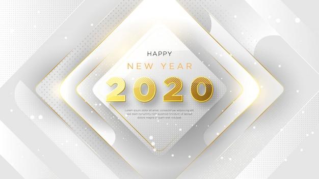 Bonne année avec texte d'or fantaisie