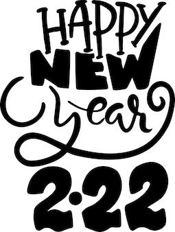 Bonne année vacances lettrage affiche modèle vector illustration