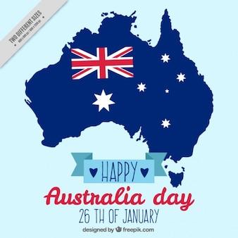 Bonne australia day background avec le drapeau et les étoiles