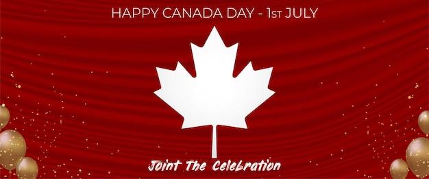 Bonne bannière de la fête du canada