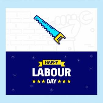 Bonne bannière de la fête du travail