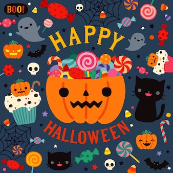 Bonne carte de fête d'halloween