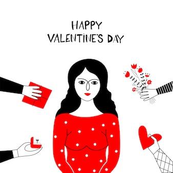 Bonne carte de saint valentin.