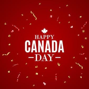 Bonne carte de voeux de fond de la fête du canada. illustration vectorielle