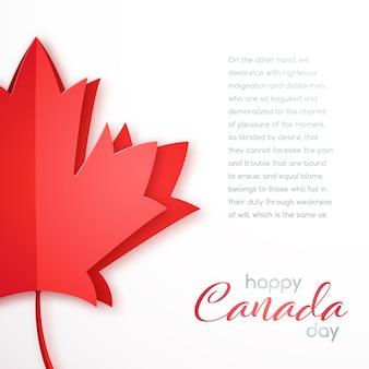 Bonne carte de voeux pour la fête du canada.