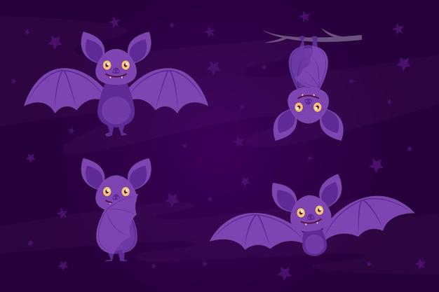 Bonne collection de chauves-souris halloween