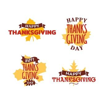 Bonne collection d'événements de badge de thanksgiving