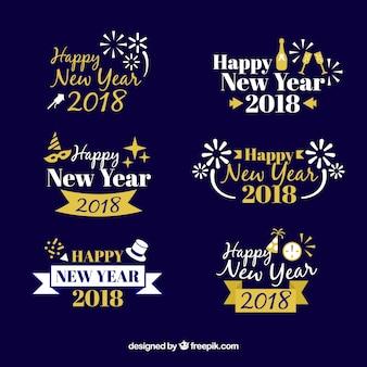 Bonne collection d'insignes de nouvel an