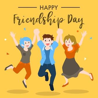 Bonne conception de la journée de l'amitié