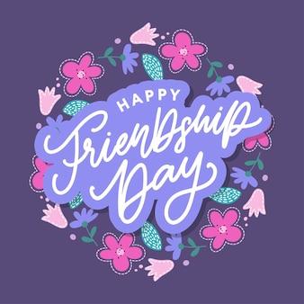 Bonne fête de l'amitié carte de voeux pour affiche flyer bannière pour site web modèle cartes affiches logo v...