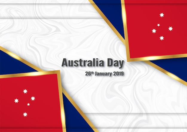 Bonne fête de l'australie le 26 janvier.