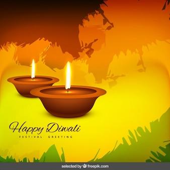Bonne fête de diwali voeux