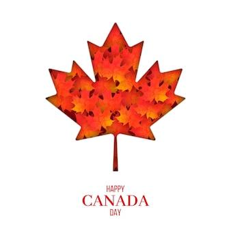 Bonne fête du canada avec feuille d'érable
