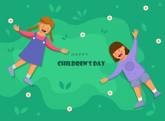 Bonne fête des enfants. fond de la journée mondiale des enfants
