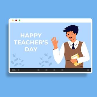 Bonne fête des enseignants à plat