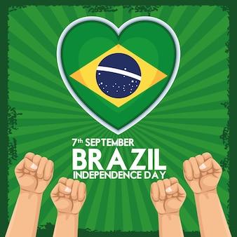 Bonne fête de l'indépendance du brésil
