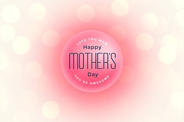 Bonne fête des mères belle salutation