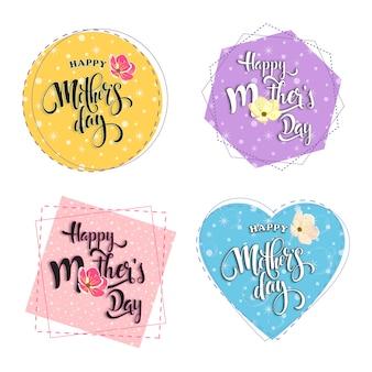 Bonne fête des mères dans des cadres pastels