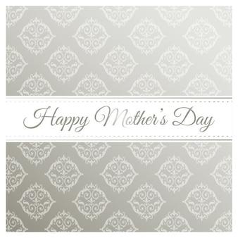 Bonne fête des mères gris motif de fond