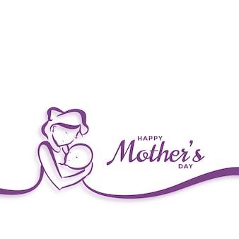 Bonne fête des mères maman et bébé amour fond