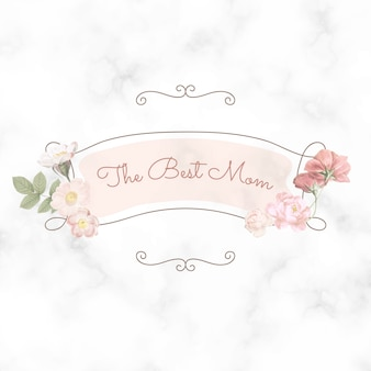 Bonne fête des mères. le meilleur lettrage de maman