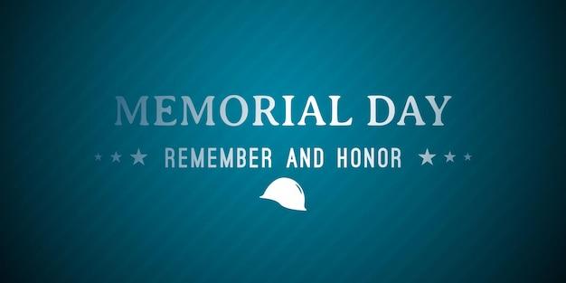 Bonne fête nationale américaine du memorial day
