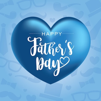 Bonne fête des pères avec des ballons en forme de coeur