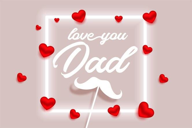 Bonne fête des pères belle conception de carte de voeux