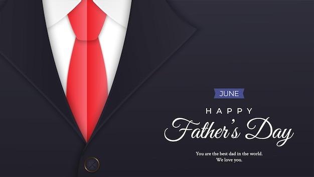 Bonne fête des pères avec cravate