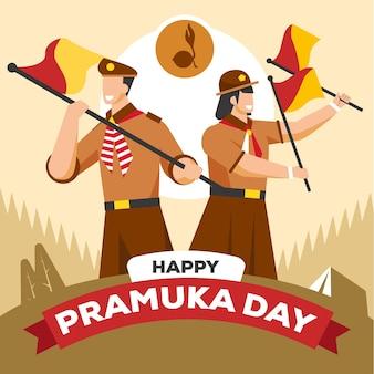 Bonne fête pramuka