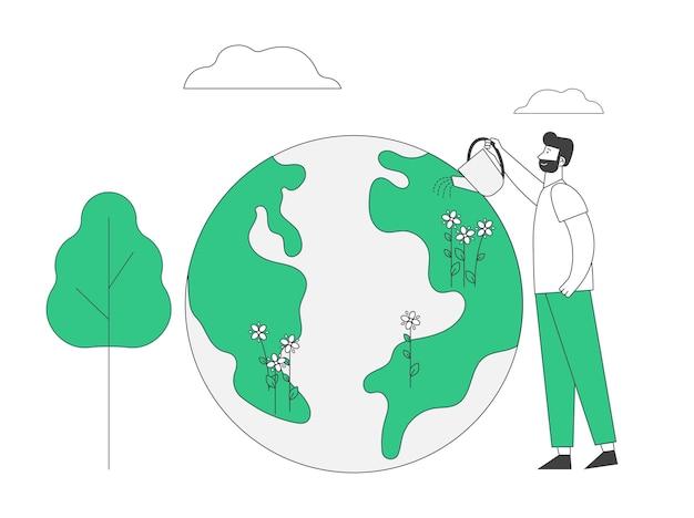 Bonne fête de la terre et concept de soins de la planète