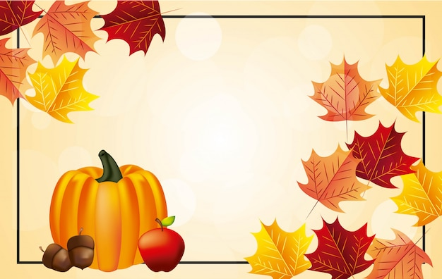 Bonne fête de thanksgiving background