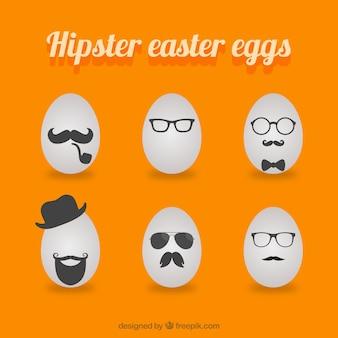 Bonne hipster pâques