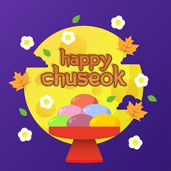 Bonne illustration de chuseok