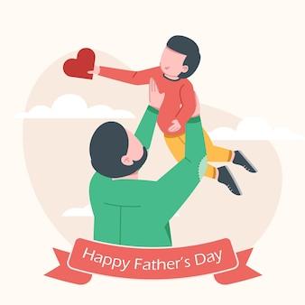 Bonne illustration de la fête des pères