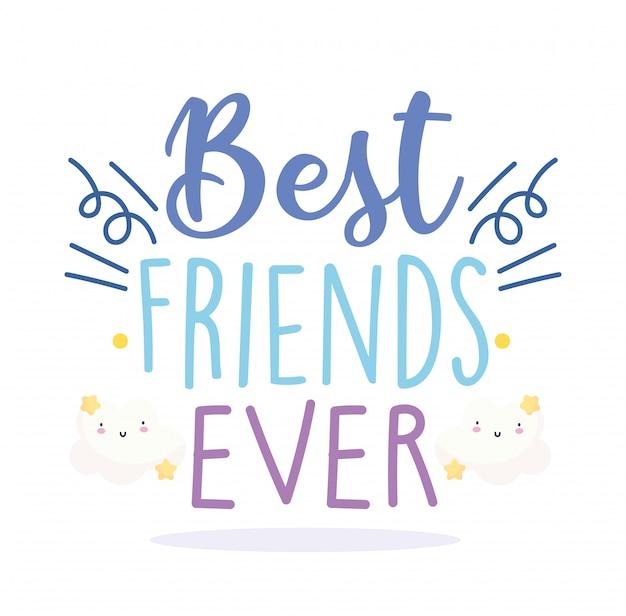 Bonne journée d'amitié, lettrage de célébration d'événement spécial