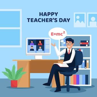 Bonne journée des enseignants avec le tuteur